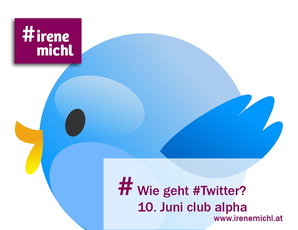 Twitter Vortrag Irene Michl